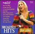Broadway Hits For Alto Karaoke CDGs